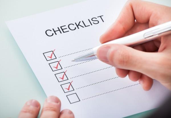 Plantilla check-list